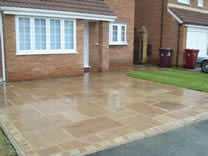 Mr Gorden's  Sandstone Paving Project - Borehamwood